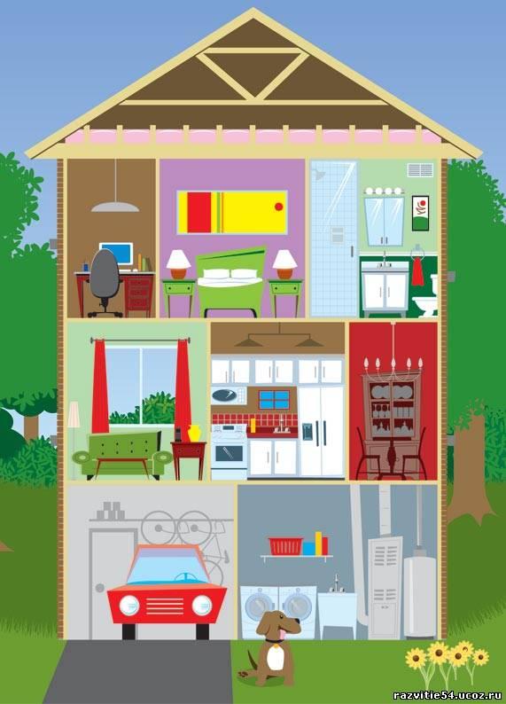 Открытка, мой дом картинки в садик